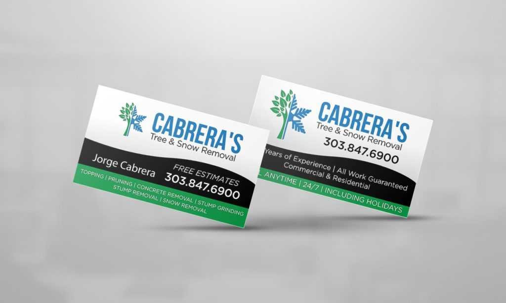 Cabrera's Tree & Snow Removal Business Card Design