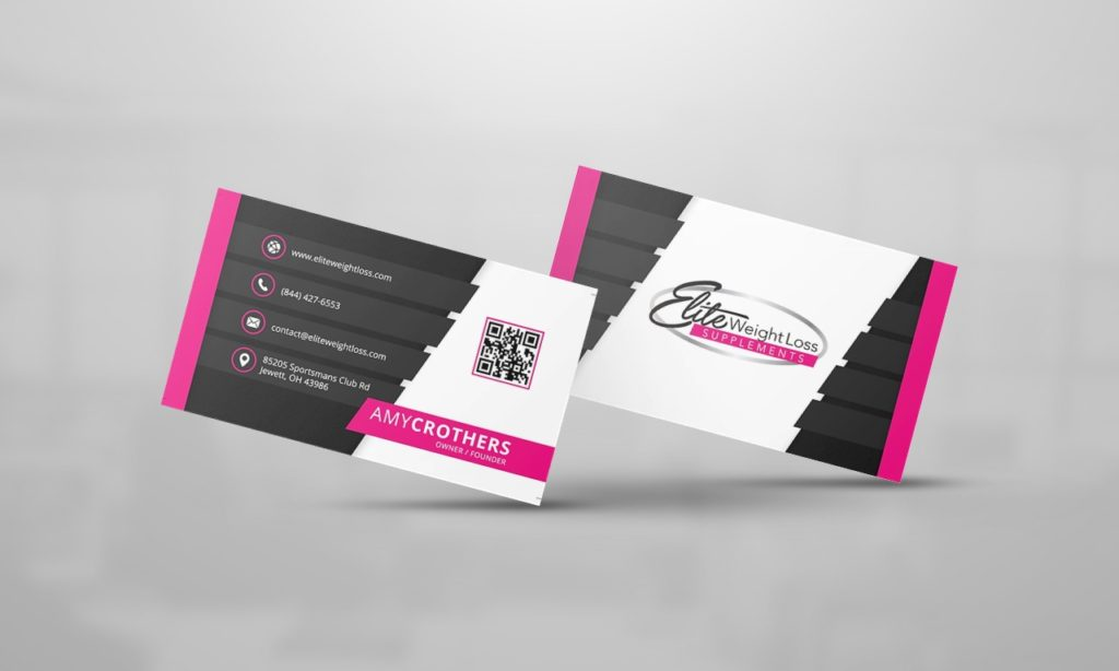 Elite Weight Loss Business Card Design