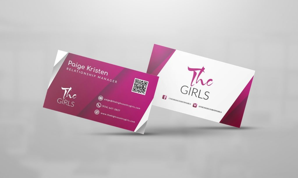 THC Girls Business Card Design