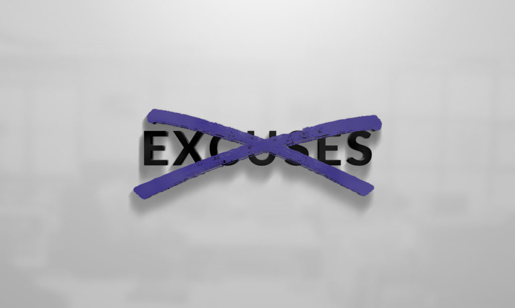 No Excuses VIP Logo Design