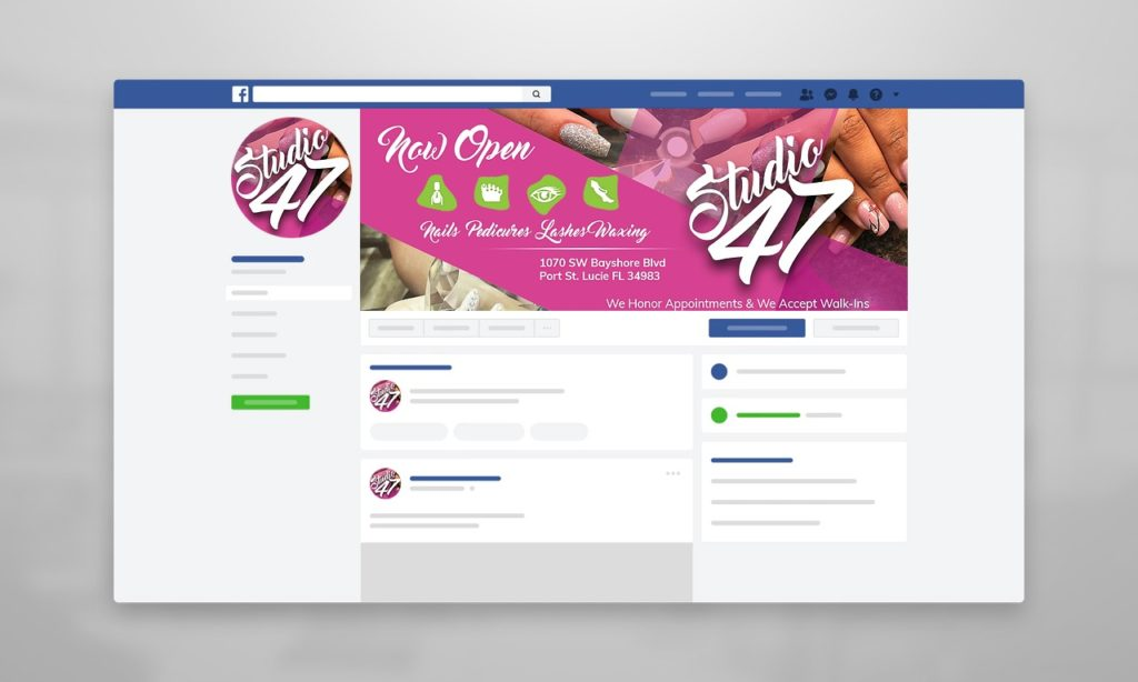 Studio47 Nails Facebook Cover Design