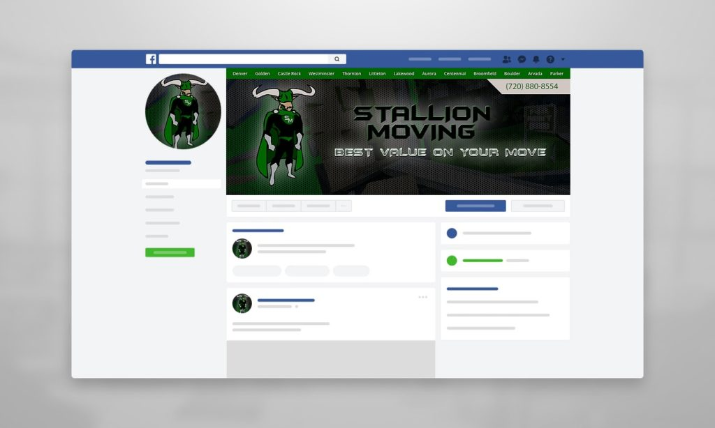Stallion Moving Facebook Cover Design